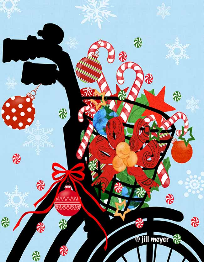 jill meyer-1578B Christmas bike