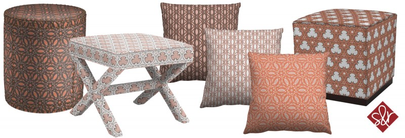 Sarah & Ruby Design Studio Upholstered Products Art Licensing Show