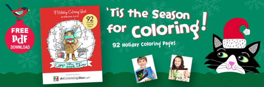 Free Holiday Coloring Book from Art Licensing Show