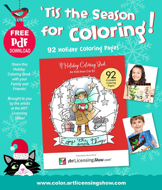 Free Coloring Book For The Holidays From Art Licensing Show
