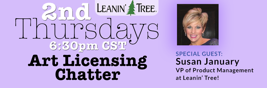 2nd Thurs Special Guest - Susan January of Leanin' Tree Chats About Greeting Cards