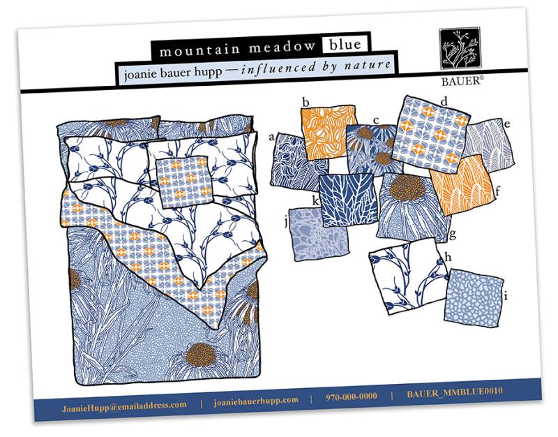 Joanie Hupp - Mountain Meadow Collection, blue
