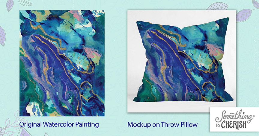product mockup throw pillow