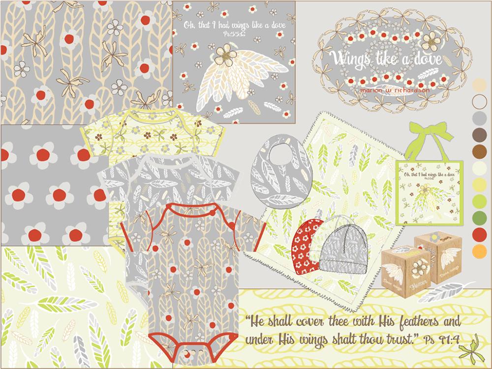 Baby Pattern Design Art Challenge with CLOTHWORKS® ~ TOP 6