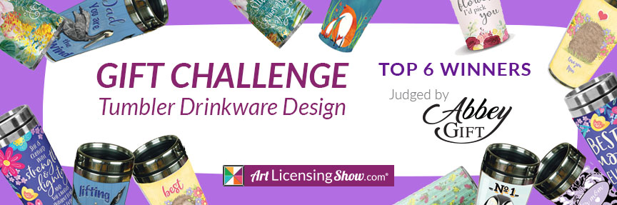 art licensing design for the gift industry tumbler challenge