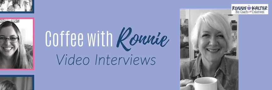 Coffee with Ronnie Video Interview with Cherish Flieder of Art Licensing Show